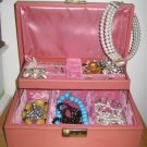 60's - 70's MELE Jewelry Organizer in Baby Pink, Small