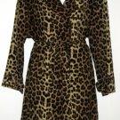 ASTONISHINGLY BEAUTIFUL 1991 YES Leopard Print Dress and Trench Coat Set