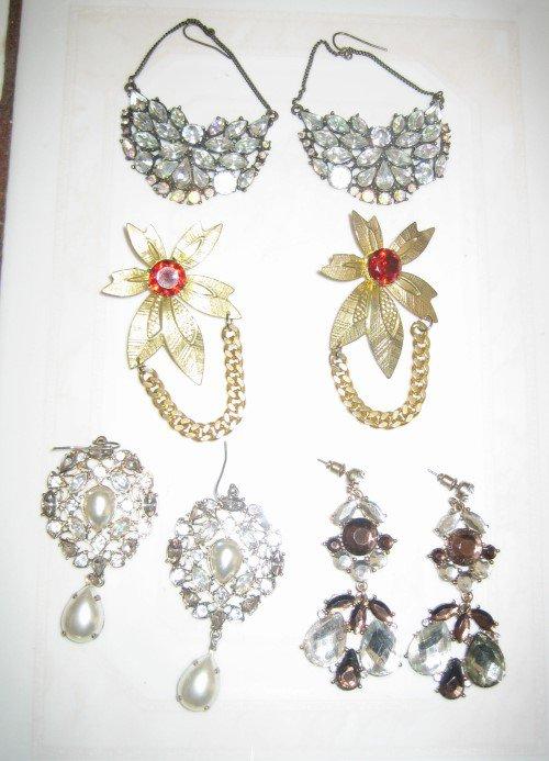 4 pack set of VINTAGE Hook and Post Earrings