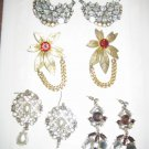 4 pack set of VINTAGE Hook and Post Earrings