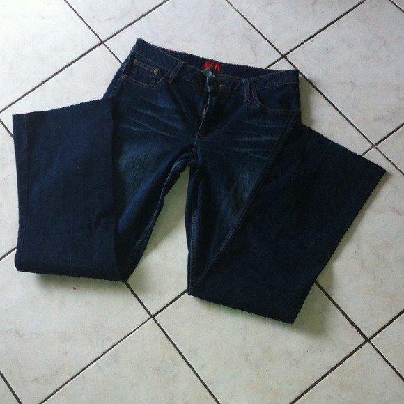 MOSSIMO Stretch 5-Pocket Denim Blue Jeans