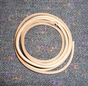 "Treadle Sewing Machine Belt #4 - Leather 3/16""  - NEW"