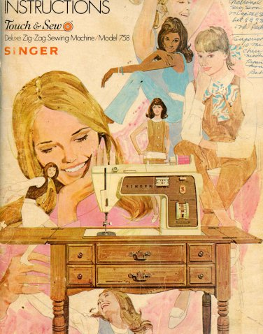 Singer 758 Instruction Manual - Original