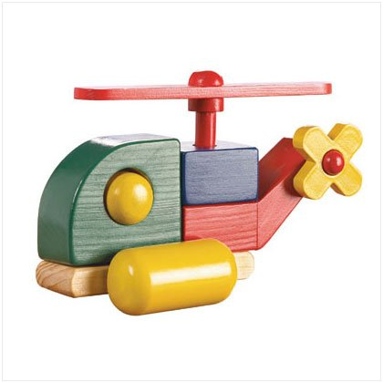 WOOD HELICOPTER TOY