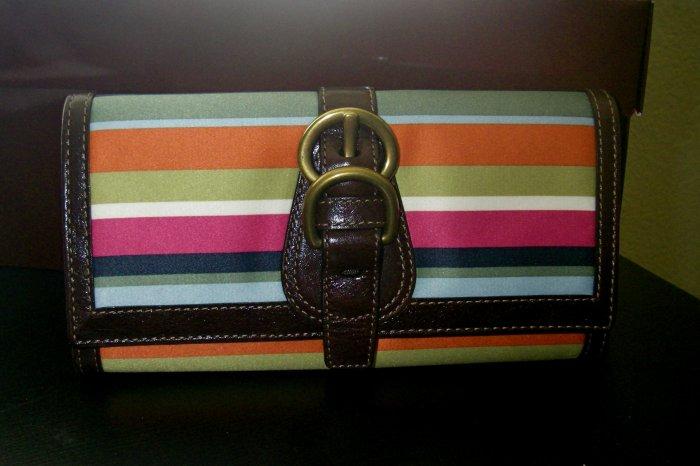 Coach Legacy Stripe Wallet Envelope
