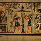Egyptian Papyrus Weighing Of The Heart Ra, Anubis, Thoth