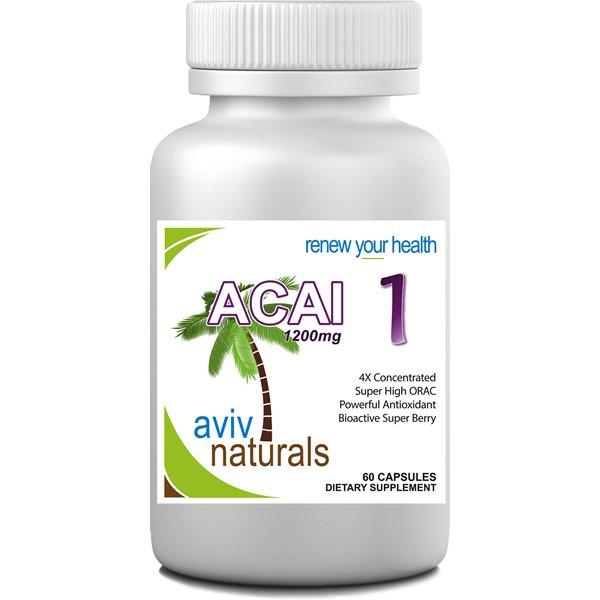 Acai 1 Pure Brazilian Acai Berry Fruit Extract 1200 mg ENERGY Supplement Freeze Dried