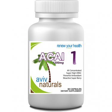 Acai 1 Pure Brazilian Acai Berry Fruit Extract 1200 mg ENERGY Supplement Freeze Dried