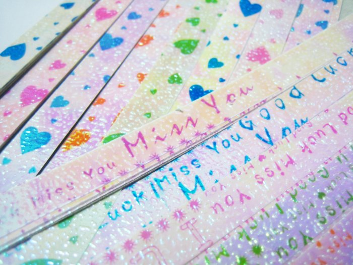 96pcs Glitter Origami Folding Lucky Star Paper Stripe