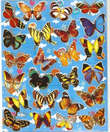 5 sheets Butterfly Sticker #C134