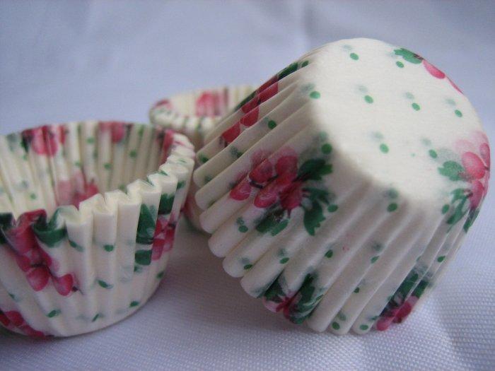 200pcs Mini Paper Cake Cup printed with Berries