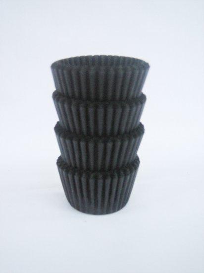 200pcs Mini Paper Cake Cup Black