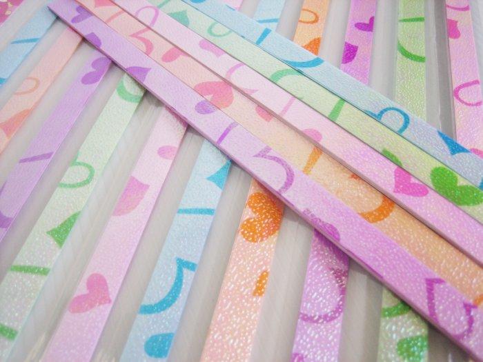 80pcs Romantic Love Origami Folding Lucky Star Paper Stripe