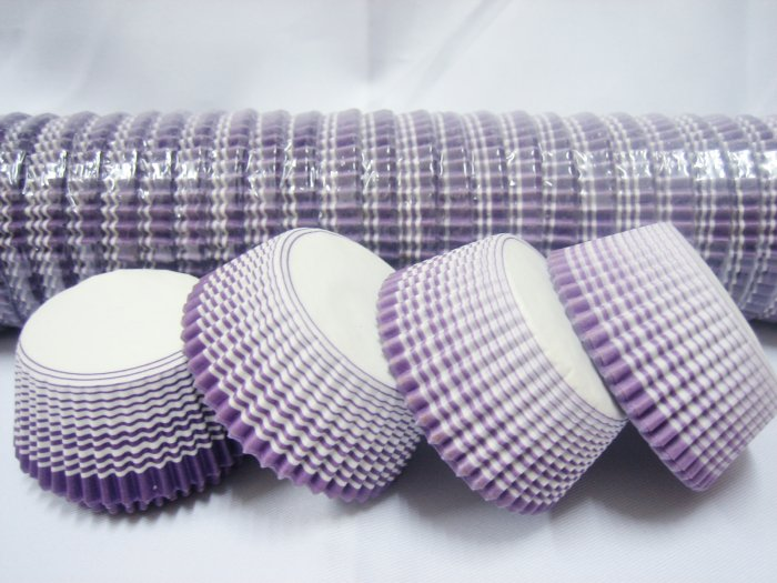 Bulk 1000pcs Purple Cake Cup Printed with White Dove US Standard Size