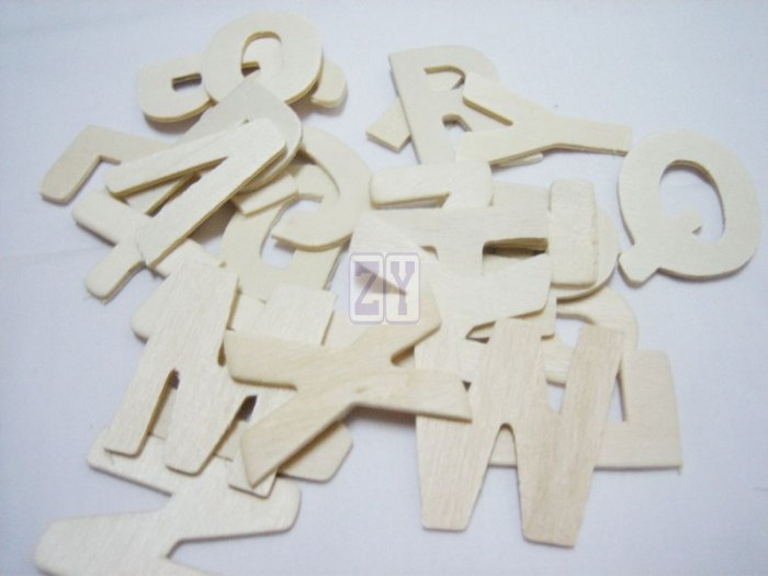Stock Clearance - Neutral/Natural Color of Wooden Letter, Alphabet, ABC for embellishment