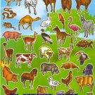 10 sheets BL634 Realistic Farm Animal Removable A4 Sticker