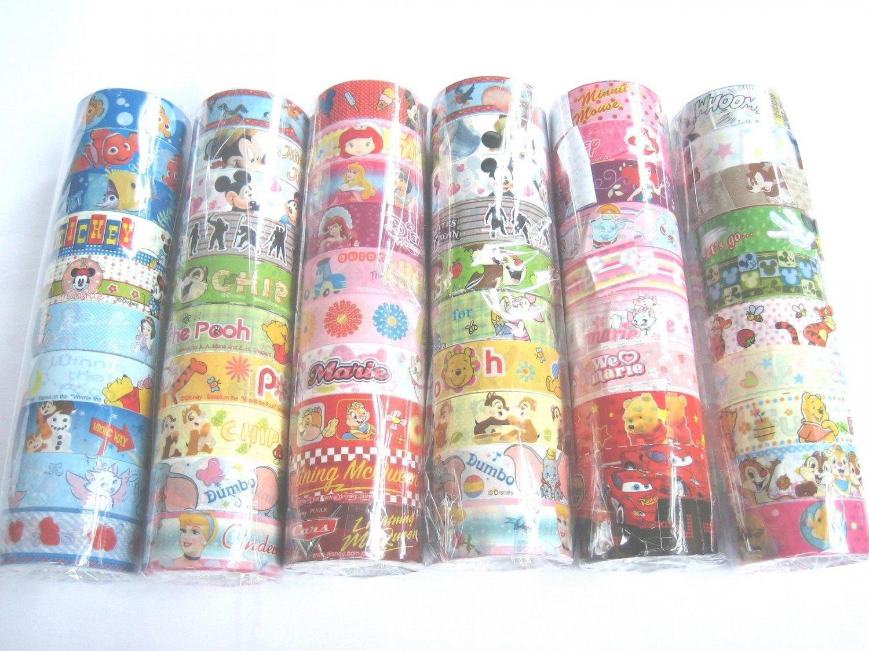 60 rolls Assorted Cartoon Design Cute Kawaii Korean Design Deco Tape Adhensive