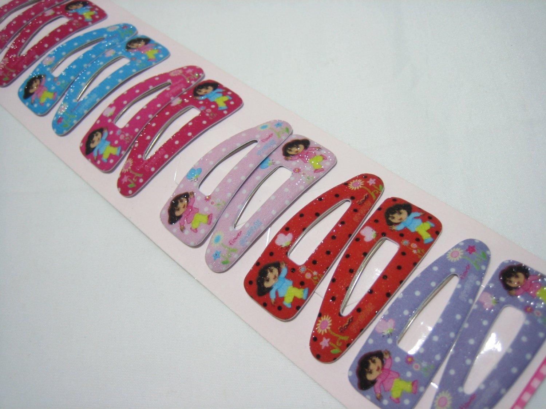 Wholesale 60pcs Dora Girl Snap Hair Clip 4.5cm (running_hole)