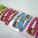 Wholesale 60pcs Dora Girl Snap Hair Clip 4.5cm (strawberry_hole)