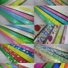 50packs X 90strips Mix Design Origami Lucky Wishing Star Paper Strips
