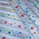 60 strips lovely Heart on Metalic Tone Pearlescent Mix Colour Origami Folding Lucky Star Paper