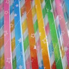 60 strips Shooting Star on Colour Tone Pearlescent Mix Colour Origami Folding Lucky Star Paper