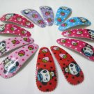 Wholesale 60pcs Cowgirl Panda Girl Snap Hair Clip 4.5cm (n/hole)