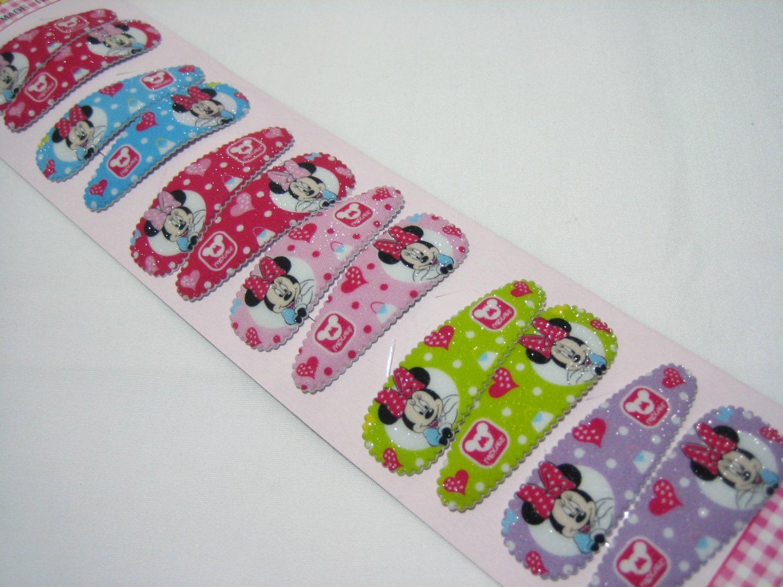 Wholesale 60pcs Minnie Girl Snap Hair Clip 4.5cm (mouse_nhole)