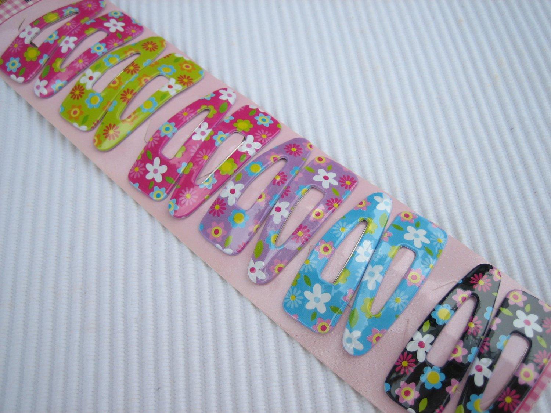 Wholesale 60pcs Daisy Flower Girl Snap Hair 4.5cm Clip (hole)
