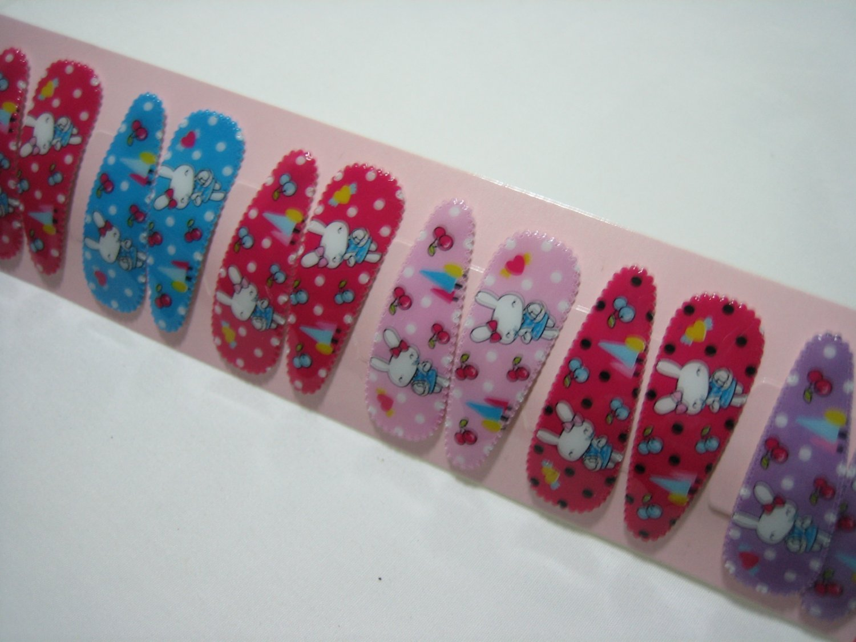 Wholesale 60pcs Rabbit Design Girl Snap Hair Clip 4.5cm (cherry tree_n/hole)