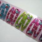 Wholesale 60pcs Snoopy Girl Snap Hair Clip 4.5cm (reading_glitter_hole)