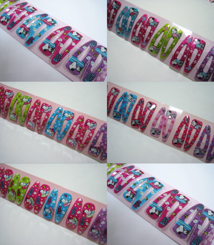 Wholesale 60pcs Mix Design Snoopy Girl Snap Hair Clip 4.5cm