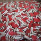 Wholesale 1000pcs Wooden Peg with Red Heart