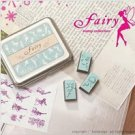 DIY Korean Foam and Rubber Stamp Fairy 12pcs set in Tin Box