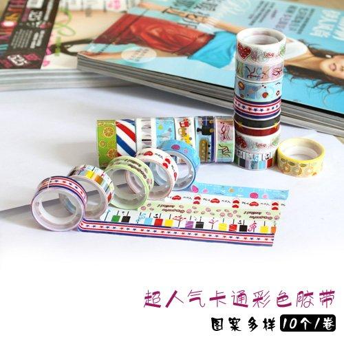120 rolls Assorted Design Cute Kawaii Korean Design Deco Tape Adhensive