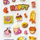 OK015d Korean Food Small Puffy Sticker