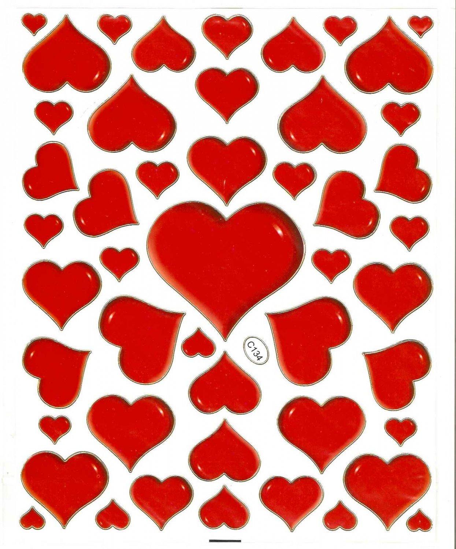 10 sheets C134 Heart Shape Love Removable A4 Sticker