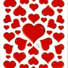 10 sheets C134 Heart Shape Love Removable A4 Sticker