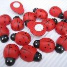 "36pcs 18mm*25mm or 6/8"" * 1"" Wooden Ladybug ladybird Stick On"