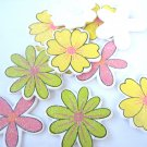 36pcs Wooden Assorted Flower Stick On