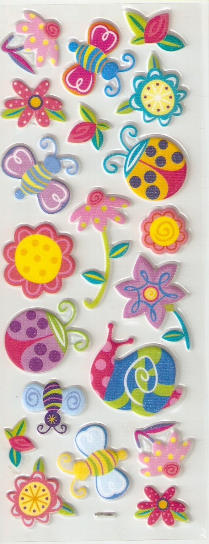 Essence of the Garden Small Puffy Sticker #H08C