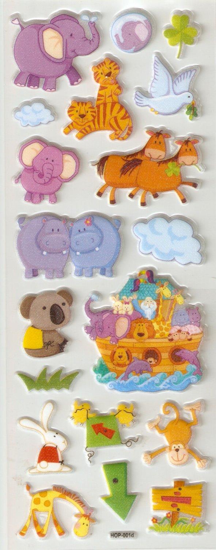 Noah's Ark Small Puffy Sticker #H01d