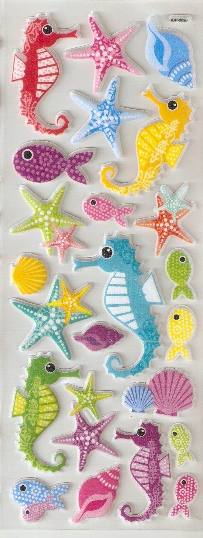 Under the Sea Small Puffy Sticker #H02b
