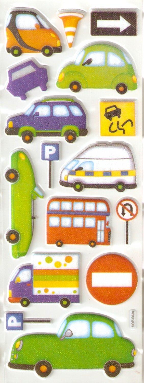 Bumper to Bumper Small Puffy Sticker #H03a
