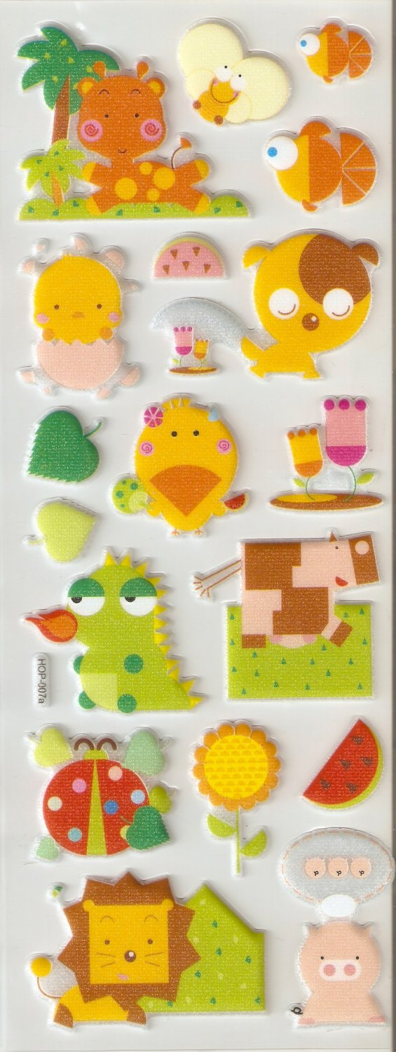 Animanial Small Puffy Sticker #H07a