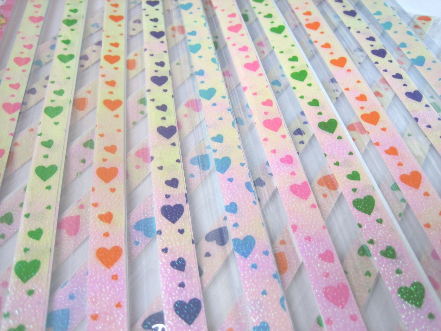 80 strips LOVELY HEART Mix Colour Origami Folding Lucky Star Paper Strips 80A
