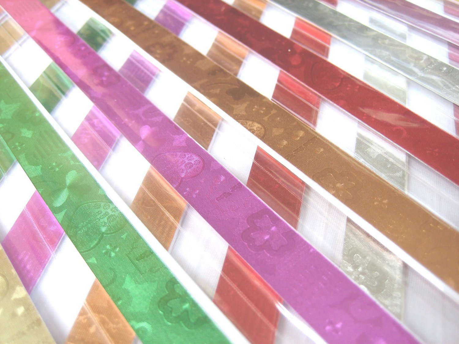 80 strips EMBOSSED Mix Colour Origami Folding Lucky Star Paper Strips 80A