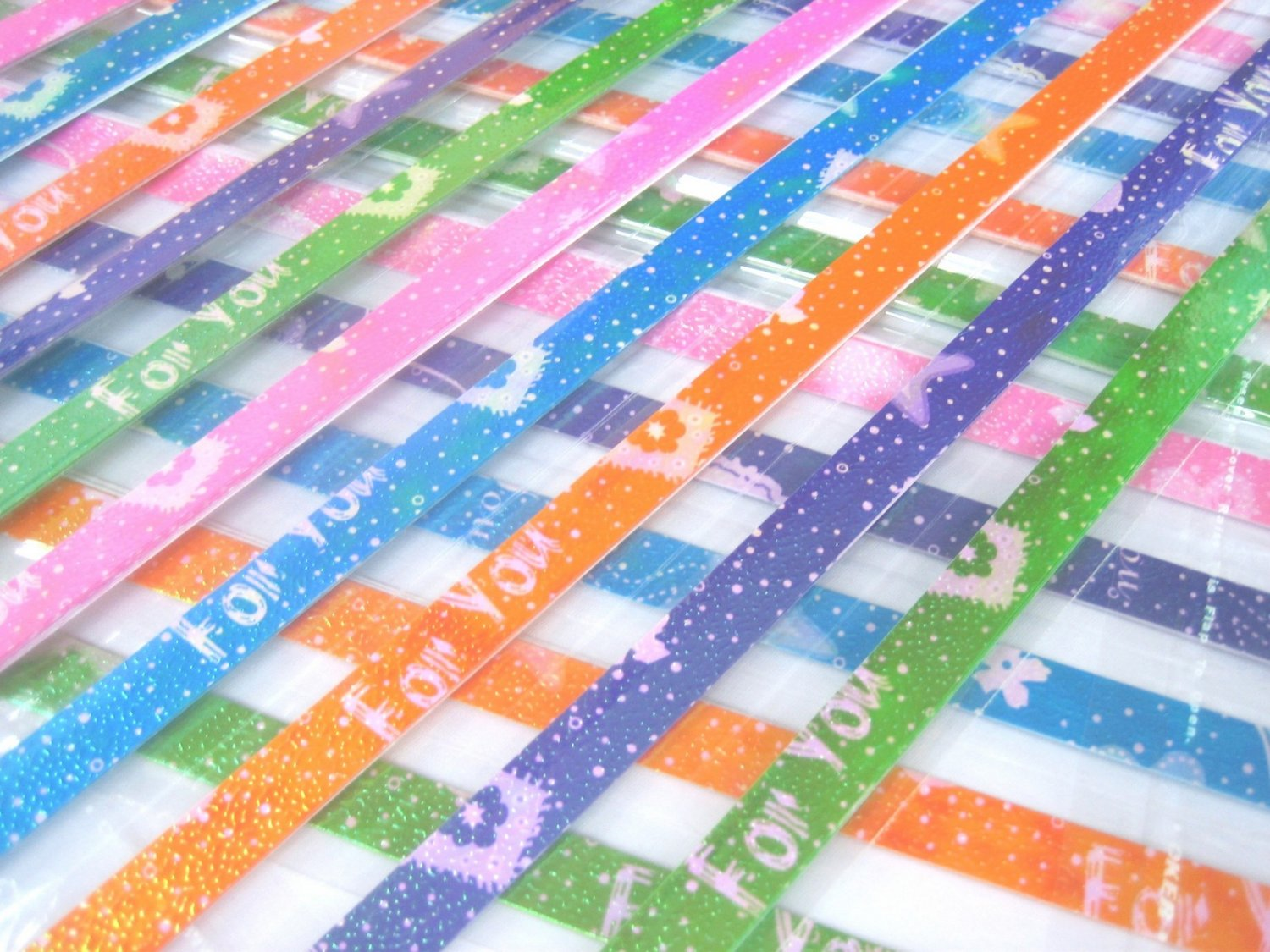 80 strips FOR YOU Mix Colour Origami Folding Lucky Star Paper Strips 80A
