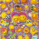 10 sheets #C034 SMILEY FACE Removable A4 Sticker