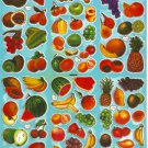 10 sheets ASSORTED FRUIT Sticker #H006